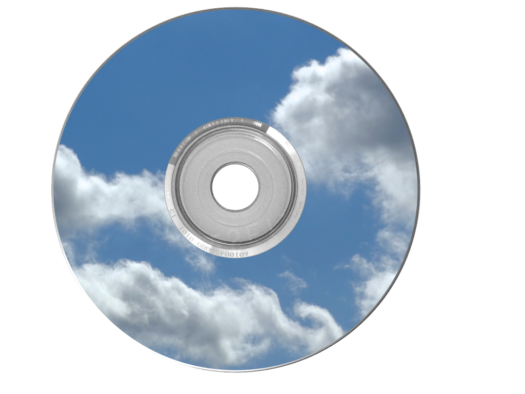 cd, dvd, nuages